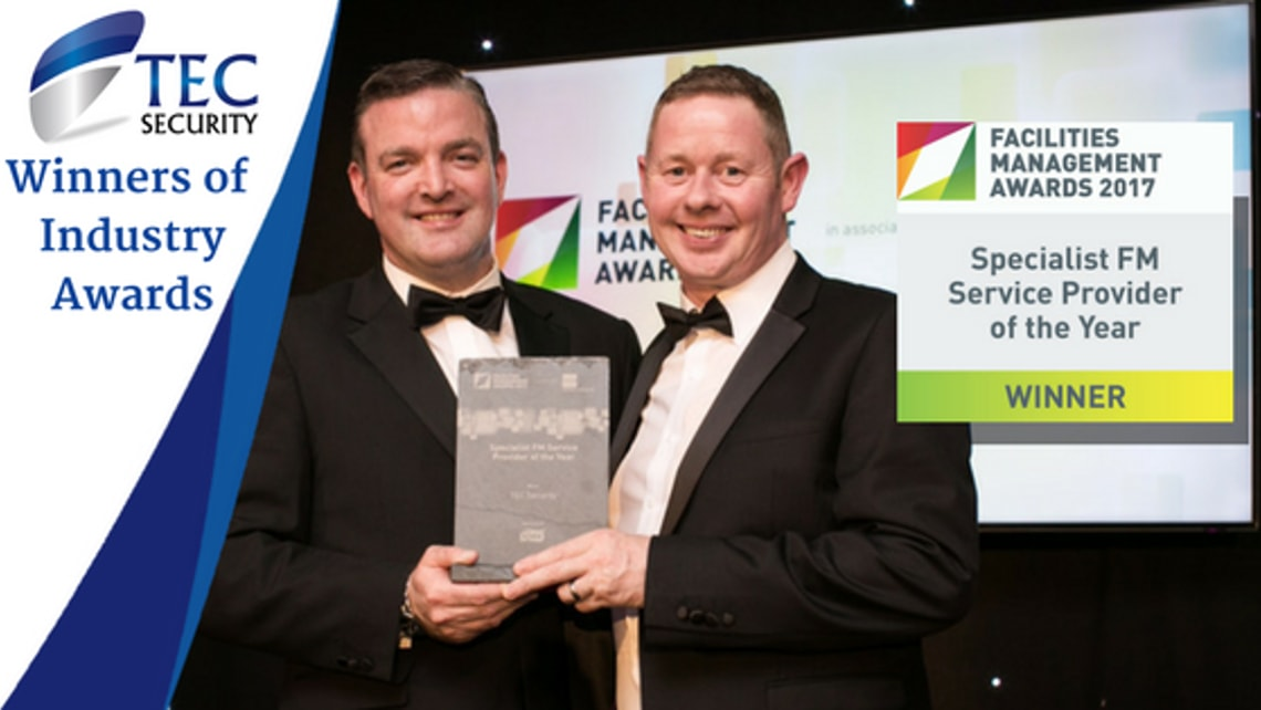 TEC Security Win Prestigious Industry Award